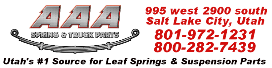 AAA Spring & Truck Parts | Leaf Springs | Leaf Spring Repair | Suspension Parts | Ubolts | Leveling Kits |